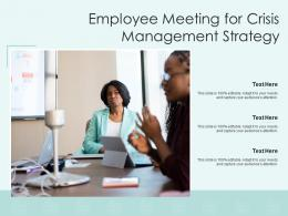 Employee Meeting For Crisis Management Strategy