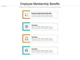 Employee Membership Benefits Ppt Powerpoint Presentation Icon Rules Cpb