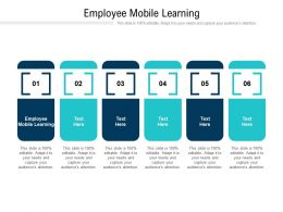 Employee Mobile Learning Ppt Powerpoint Presentation Infographics Background Images Cpb