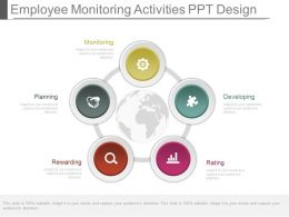 Employee Monitoring Activities Ppt Design
