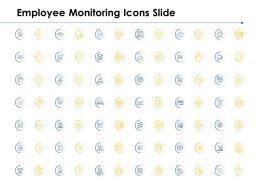 Employee Monitoring Icons Slide Checklist Growth D48 Ppt Powerpoint Presentation Model Show