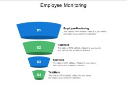 Employee Monitoring Ppt Powerpoint Presentation Inspiration Design Templates Cpb