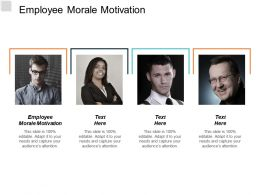 Employee Morale Motivation Ppt Powerpoint Presentation Model Background Images Cpb