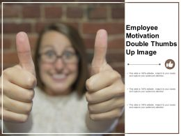 Employee Motivation Double Thumbs Up Image