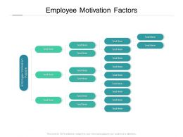 Employee Motivation Factors Ppt Powerpoint Presentation File Inspiration Cpb
