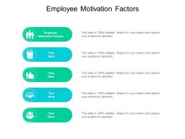 Employee Motivation Factors Ppt Powerpoint Presentation Outline Inspiration Cpb