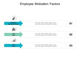 Employee Motivation Factors Ppt Powerpoint Presentation Slides Images Cpb