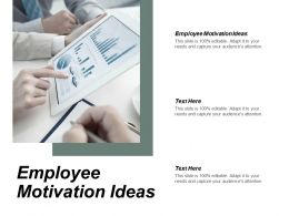 Employee Motivation Ideas Ppt Powerpoint Presentation Infographic Template Influencers Cpb