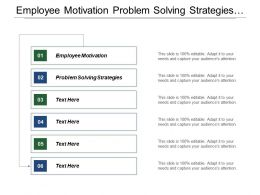 Employee Motivation Problem Solving Strategies Strategic Marketing Plan