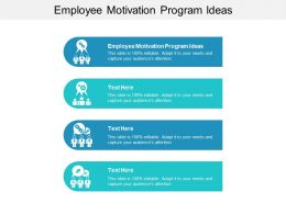 Employee Motivation Program Ideas Ppt Powerpoint Presentation File Shapes Cpb