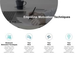 Employee Motivation Techniques Ppt Powerpoint Presentation Inspiration Information Cpb