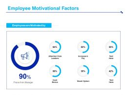 Employee Motivational Factors Cash Ppt Powerpoint Presentation Backgrounds