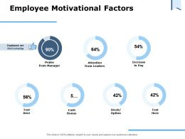 Employee Motivational Factors Ppt Powerpoint Presentation Styles Portrait