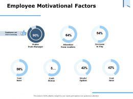Employee Motivational Factors Ppt Powerpoint Presentation Styles Portrait