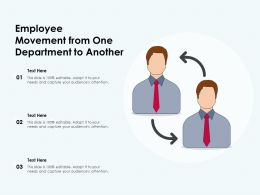 Employee Movement From One Department To Another