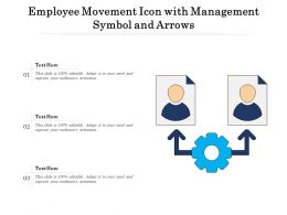 Employee Movement Icon With Management Symbol And Arrows