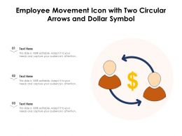 Employee Movement Icon With Two Circular Arrows And Dollar Symbol