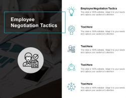 Employee Negotiation Tactics Ppt Powerpoint Presentation Infographic Template Images Cpb
