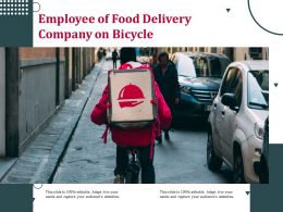 Employee Of Food Delivery Company On Bicycle