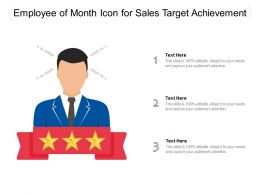 Employee Of Month Icon For Sales Target Achievement