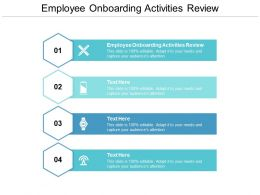 Employee Onboarding Activities Review Ppt Powerpoint Presentation Styles Mockup Cpb