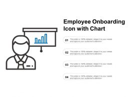 Employee Onboarding Icon With Chart