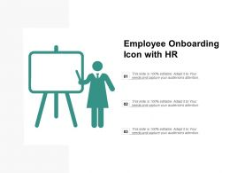 Employee Onboarding Icon With Hr