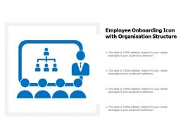 Employee Onboarding Icon With Organisation Structure