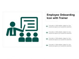 Employee Onboarding Icon With Trainer