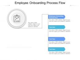 Employee Onboarding Process Flow Ppt Powerpoint Graphics Cpb