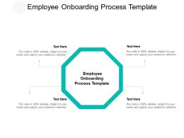 Employee Onboarding Process Template Ppt Powerpoint Presentation Model Graphics Cpb