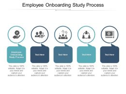 Employee Onboarding Study Process Ppt Powerpoint Presentation Model Visuals Cpb