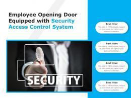 Employee Opening Door Equipped With Security Access Control System