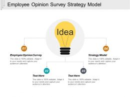 Employee Opinion Survey Strategy Model Leadership Strategy Cpb