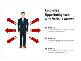 Employee Opportunity Icon With Various Arrows