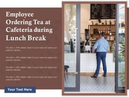 Employee Ordering Tea At Cafeteria During Lunch Break