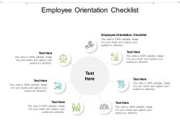 Employee Orientation Checklist Ppt Powerpoint Presentation Infographic Template Topics Cpb