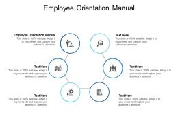 Employee Orientation Manual Ppt Powerpoint Presentation Professional Slide Portrait Cpb