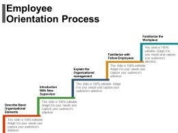 Employee Orientation Process Ppt Examples Slides
