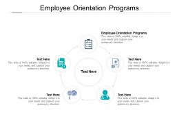 Employee Orientation Programs Ppt Powerpoint Presentation Pictures Clipart Cpb