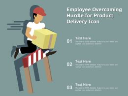 Employee Overcoming Hurdle For Product Delivery Icon