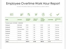 Employee Overtime Work Hour Report
