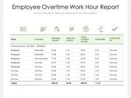 Employee Overtime Work Hour Report