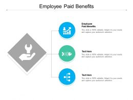 Employee Paid Benefits Ppt Powerpoint Presentation Slide Cpb