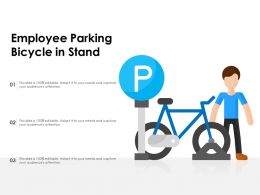 Employee Parking Bicycle In Stand