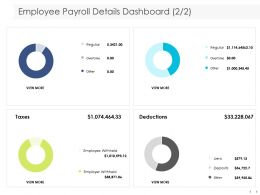 Employee Payroll Details Dashboard Deductions Ppt Powerpoint Presentation Templates