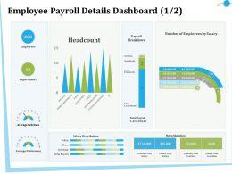 Employee Payroll Details Dashboard M2840 Ppt Powerpoint Presentation Gallery Deck