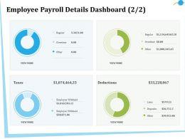 Employee Payroll Details Dashboard M2841 Ppt Powerpoint Presentation Inspiration Good