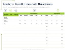 Employee Payroll Details With Departments Deduction Ppt Powerpoint Introduction