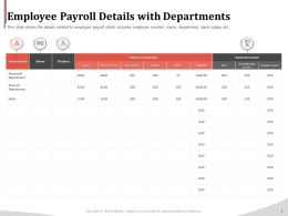 Employee Payroll Details With Departments Ppt Gallery